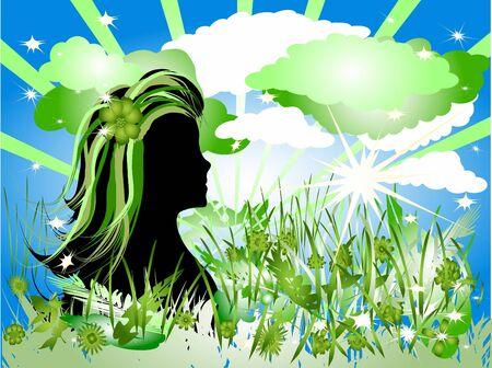 Think green girl photo