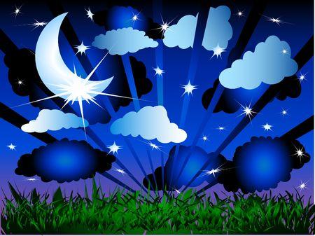 in midnight: Perfect midnight sky