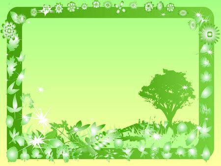 framing: Think green frame Stock Photo