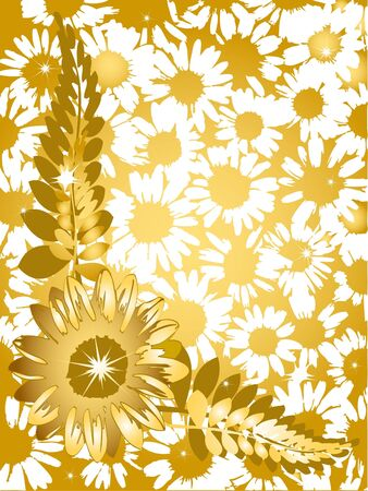 Sunflower daisy background photo