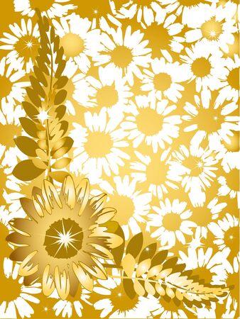 Sunflower daisy background