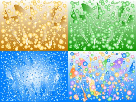 framing: Bubbling Backgrounds in Retro Colors!