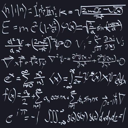 bordering: Science formulas - Seamless texture!