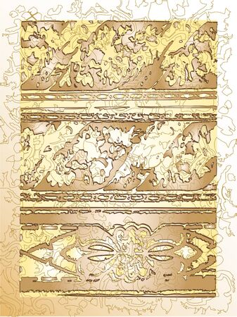 bordering: Vintage Floral Leaves Design Stock Photo