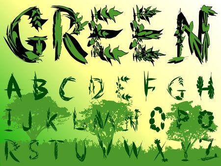 Elegant Leaves Font