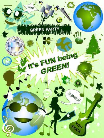 Think Green - An elements set photo