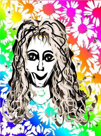 hot chick: Rainbow Daisy Girl