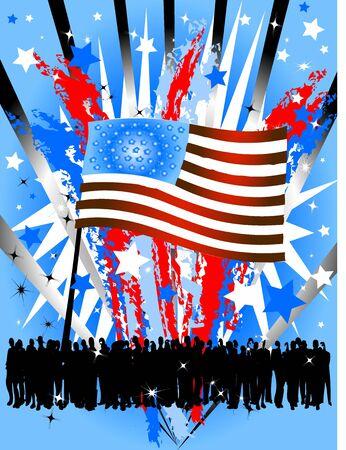 United states fireworks party background photo