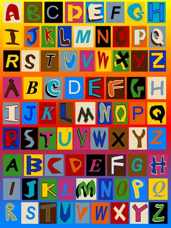 typesetter: Three Ransom Note Alphabets