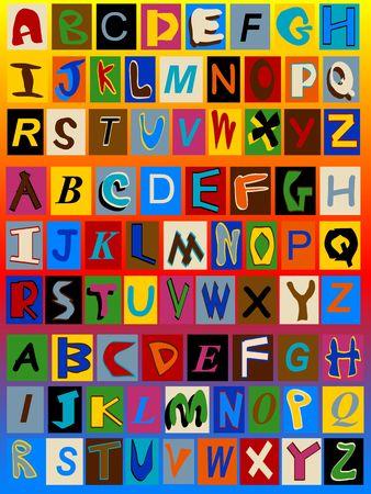 Three Ransom Note Alphabets Stock Photo - 3476925