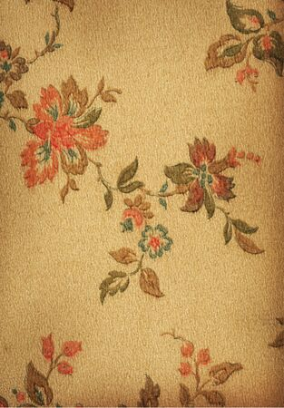 Vintage wallpaper from a very old home built in 1880 Stock Photo - 3510907