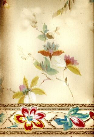 Vintage wallpaper from a very old home built in 1880 photo