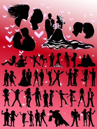 Lovers and Couples Silhouettes - Huge Selection! photo