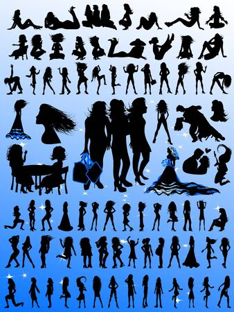 Glamour Girls Silhouettes - Huge Selection! photo