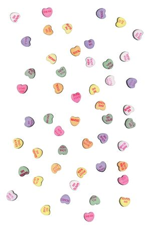Candy heart design by the contributor