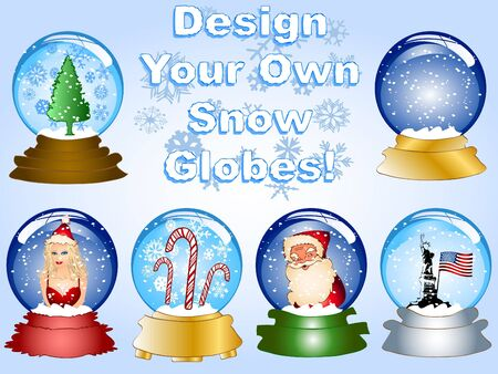 Create your own snow globes! photo