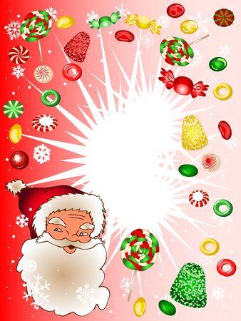 Christmas candy frame photo
