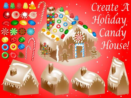 gingerbreadman: Candy House Set
