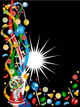 jellybean: candy fun border