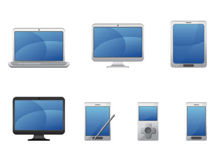 electronic devices: Electronics and computers equipment icons