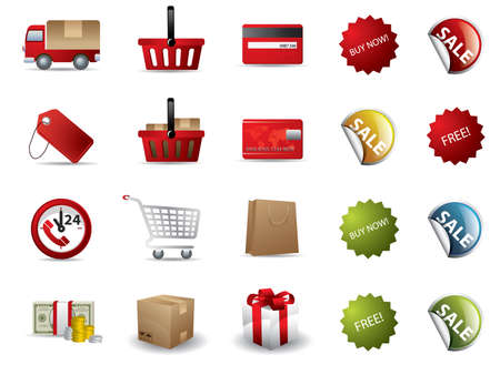 Shopping icons  矢量图像