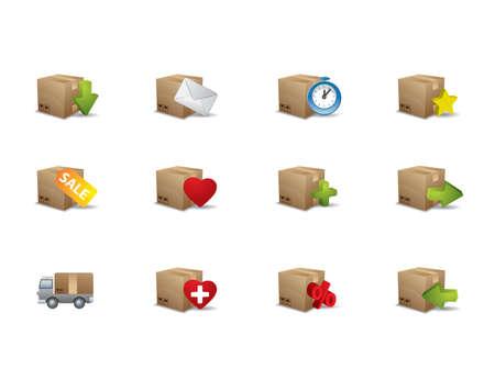 E-commerce box icons  Stock Vector - 9083000