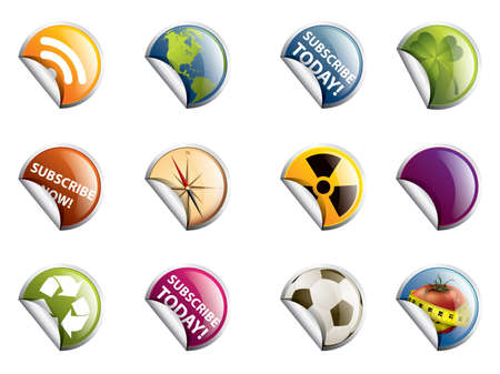 Various Badges, Isolated On White Background, Vector Illustration  Vector