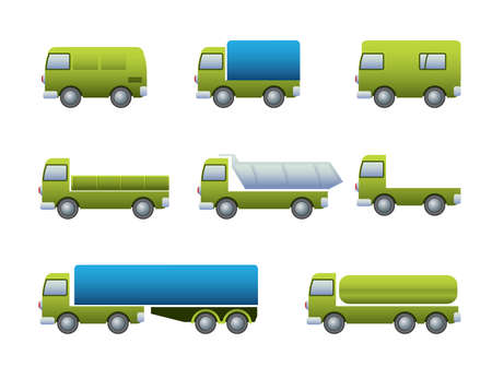 refrigerated: Transport truck icons