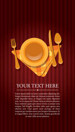 Restaurant invitation with text Stock Vector - 9194055