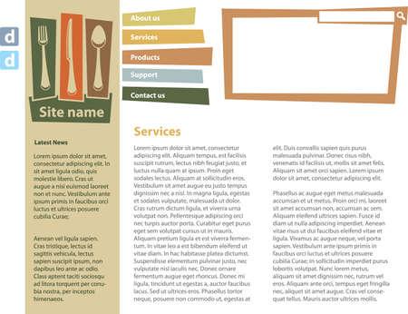 Food blog design template 矢量图像