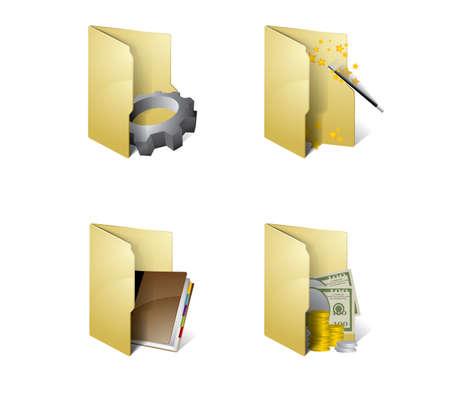 Folder icons Stock Vector - 9517296