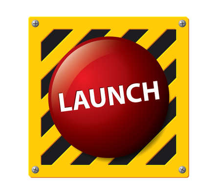 nuclear bomb: Launch button vector