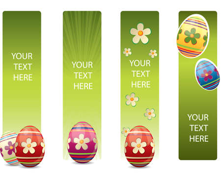 Easter banners with colorful Easter eggs Stock Vector - 9543568