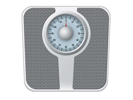 weighing: Bathroom scale vector Illustration