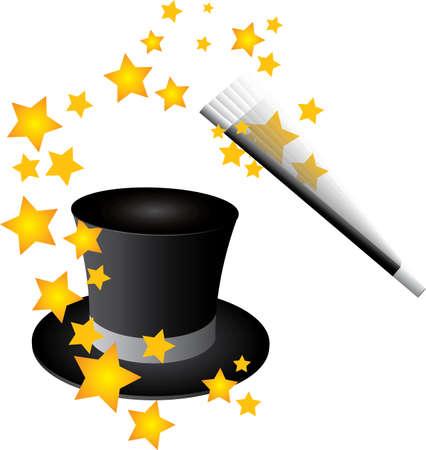 hat trick: Vector cappello magico
