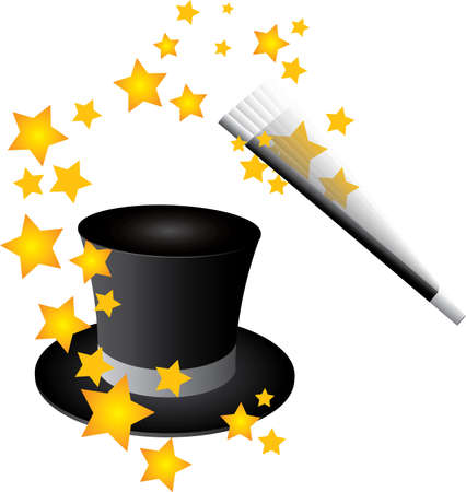 mago: Vector de sombrero m�gico Vectores