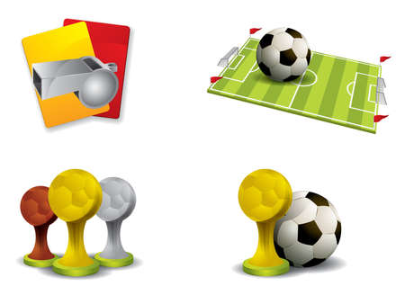 tournament bracket: Soccer icon set vector