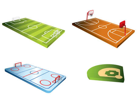 field hockey: Sport fields 3d