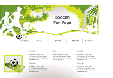 Soccer web site design template Vector