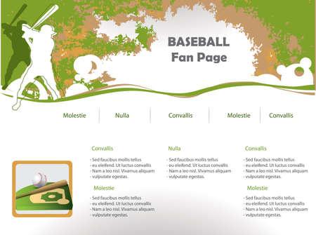 web site design: Baseball web site design template