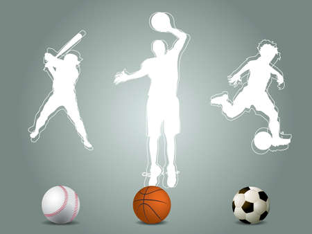 Sport player silhouette Vector