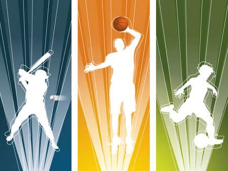 world player: Banners de silueta Sport player