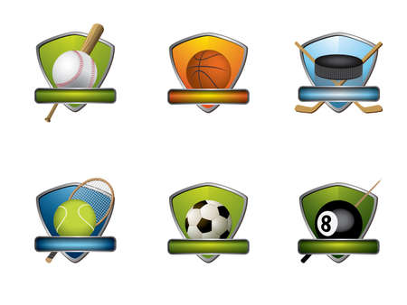 Sport badges and icons collection Illustration