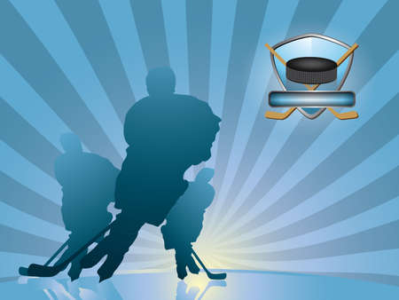 Hockey player silhouette  イラスト・ベクター素材