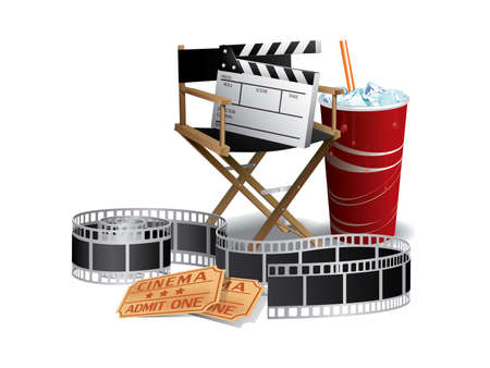 Movie director chair Vector