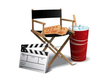 Movie director chair 免版税图像 - 9846074