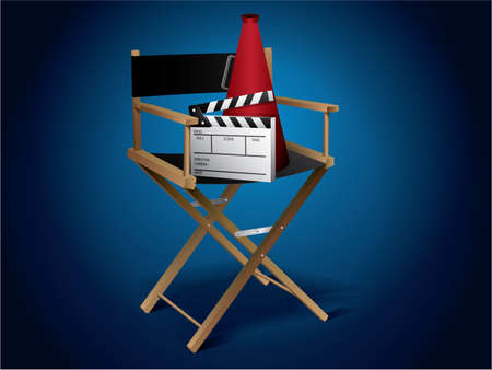 Movie director chair Stock Vector - 9846076