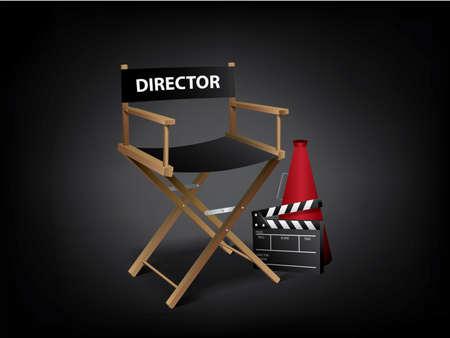 Movie director chair Illustration