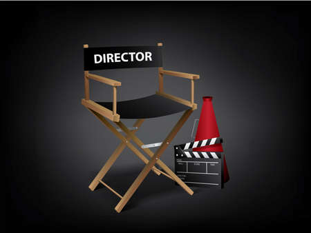 Movie director chair 免版税图像 - 9846075