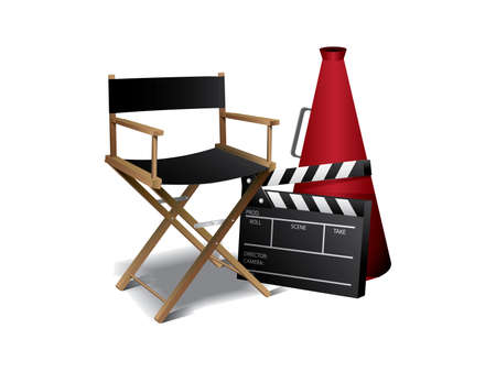 Movie director chair 免版税图像 - 9846079
